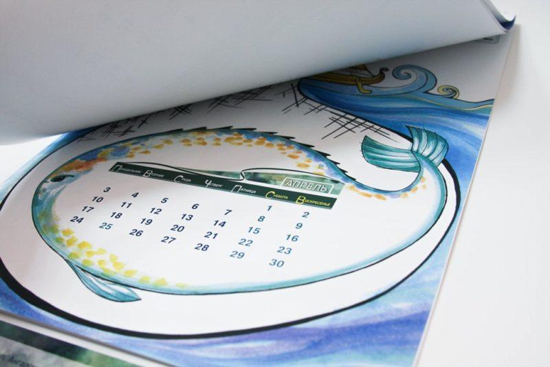 настенные календари друкс