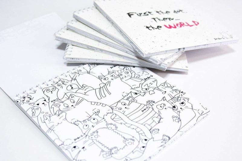 блокноты с наклейками