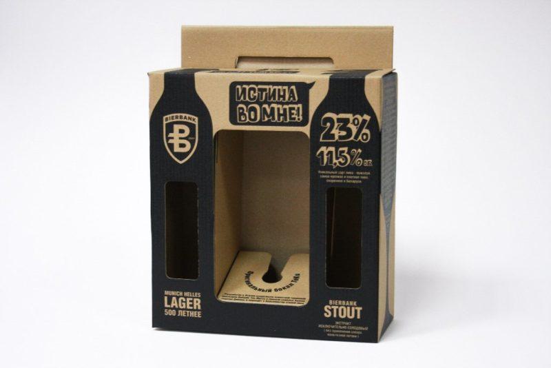 пример эко упаковки для бутылки