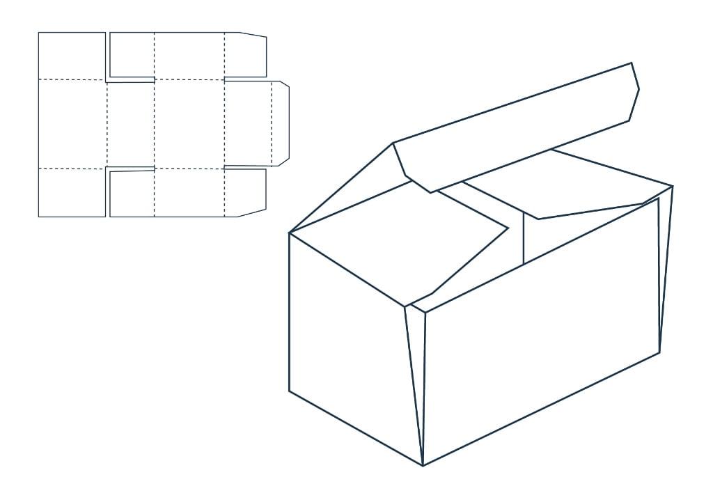 Самосборная коробка