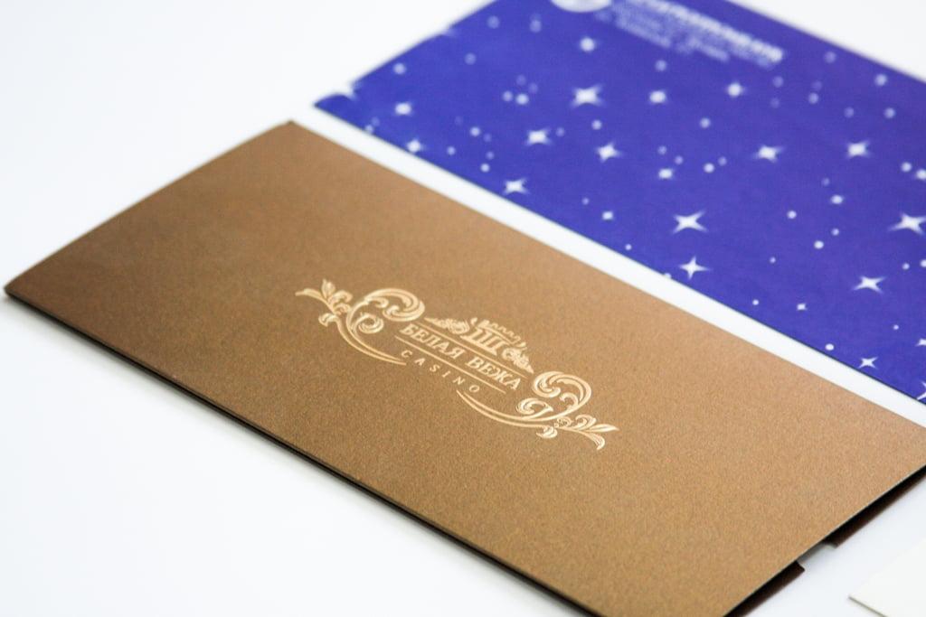 Тиснение серебром на открытке, открытках