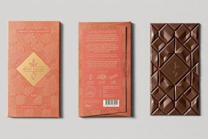 Новогодняя упаковка для шоколада