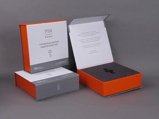 Упаковка из переплетного картона