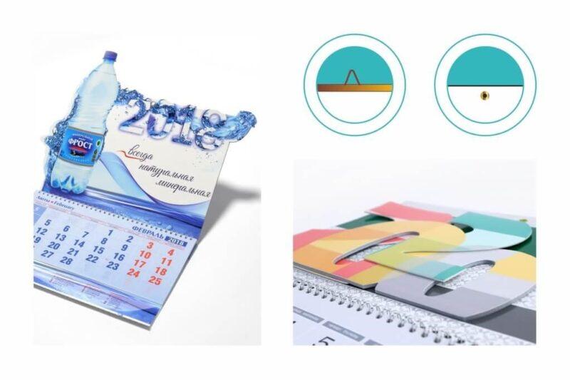 Виды настенных календарей по конструкции